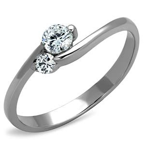 Clear Dual CZ Ring