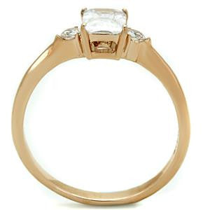 Rectangle Crystal Diamond Ring