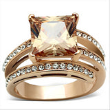 Champagne CZ Rose Gold Ring
