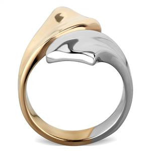 Gold Silver Two Tone Contemporary Ring