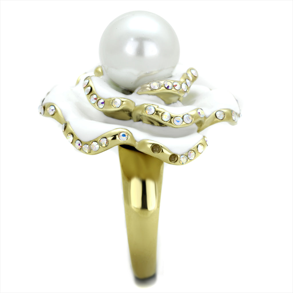 Cherie Pearl Flower Cocktail Ring