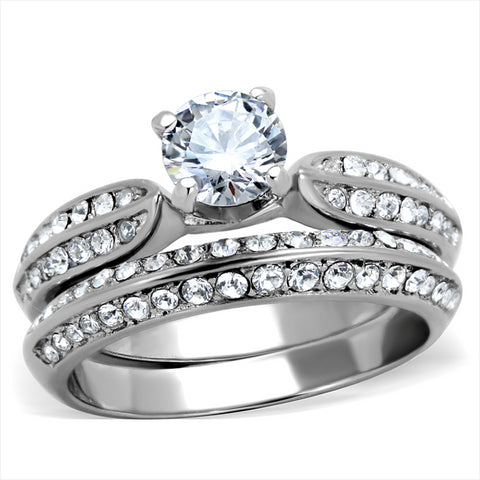 Halo Wedding Ring Set