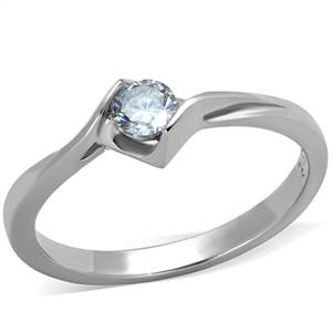 Clear CZ Solitaire Ring