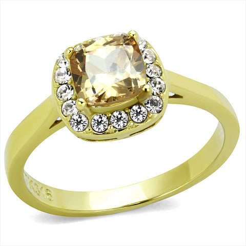 Gold Solitaire Ring Set