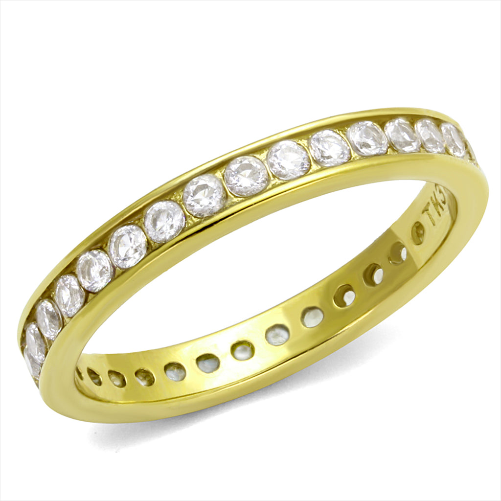 Round Gold Lust Eternity Band