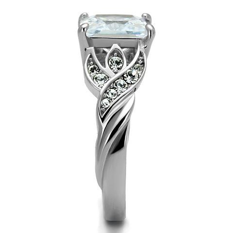 Vintage Inspired Princess Cut CZ Statement Ring