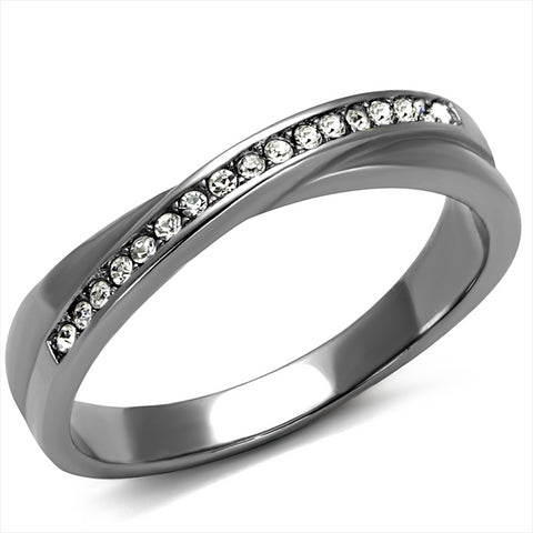 Milan Pave Moissanite Stackable Ring
