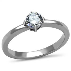 Heart Solitaire Ring