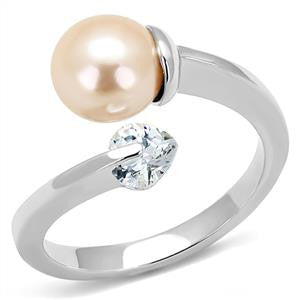 Light Peach Pearl Ring