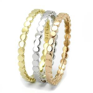 Three-Toned Stackable Rings