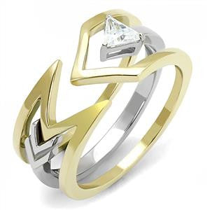 Two-Tone Silver & Gold Stacked Ring