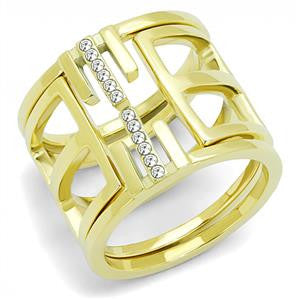 Gold Clear Crystal Wrap Ring