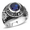 Men's Stainless Steel United States Coast Guard Military Ring