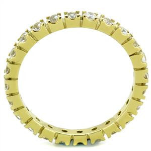 Yellow Gold Crystal Eternity Ring
