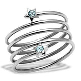 Swirling Crystal Sea Blue Ring