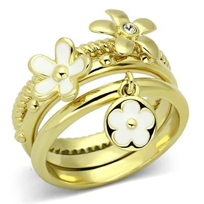 Gold Daisy Ring Set