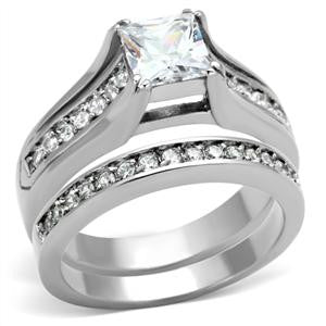 Brilliant Round Wedding Ring Set