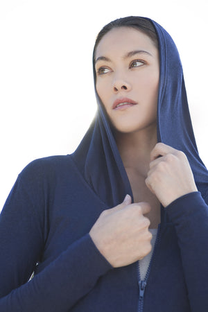 From Clothing Merino Zipped Yoga Hoody