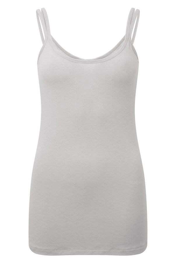Stunning merino wool yoga vest top, in Silver Mist Grey, provides a superior sports lux feel. Natural and sustainable, Merino Wool's thermo regulatory properties keep you cool when it's hot, and warm when it's cool. Blended with cooling ECO friendly Lenzing TENCEL gives a softer hand feel.