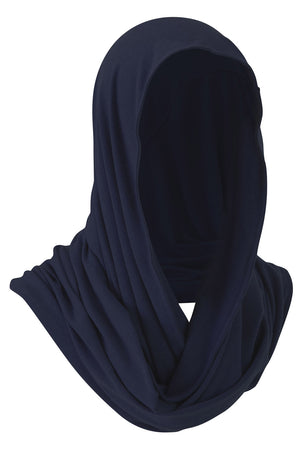 Beautiful Merino Wool Snood Scarf in Blue Nights