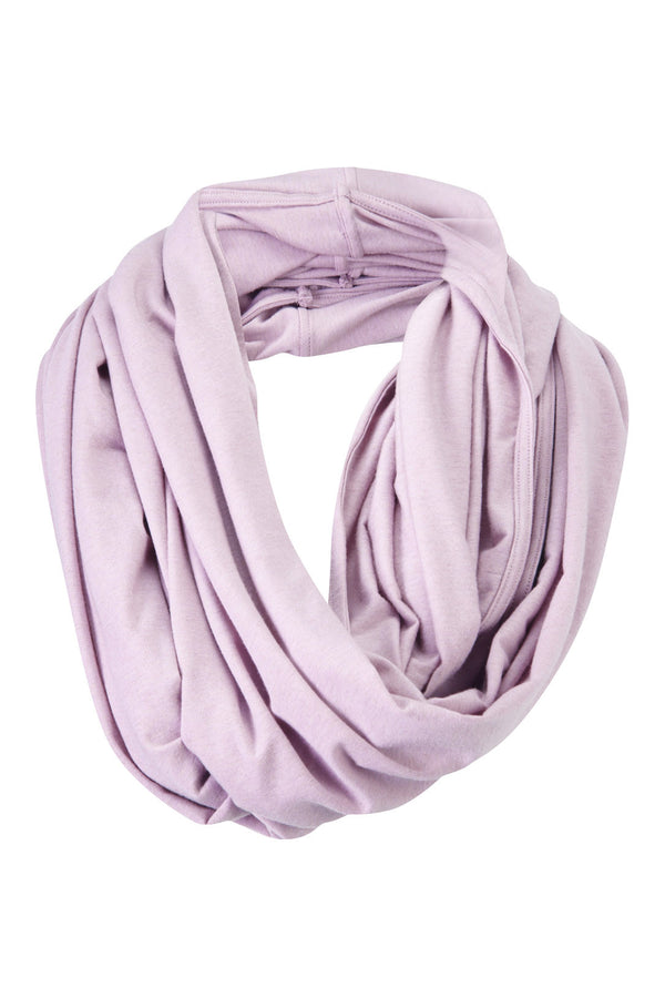 Beautiful Merino Wool Snood Scarf in Morado Pink