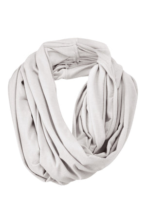 Beautiful Merino Wool Snood Scarf in Silver Grey