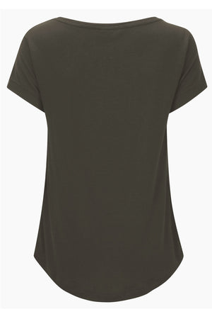 From Clothing Merino Short Sleeve Loose Fit Tee in Cedar Brown