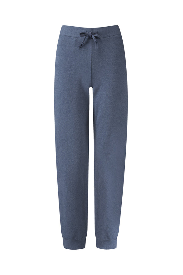 Organic Cotton Lounge Sweat Pants Indigo Blue Marl