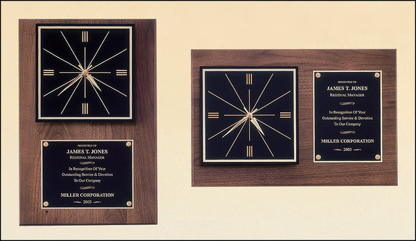American Walnut Quartz Clocks-Vertical Or Horizontal - On Course