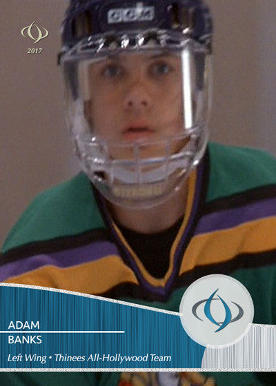 Adam Banks starred in all three Mighty Ducks movies and is on the Thinees All-Hollywood Hockey team