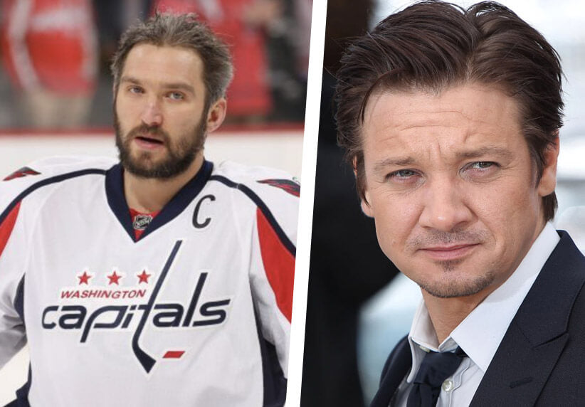 Alexander Ovechkin and Jeremy Renner