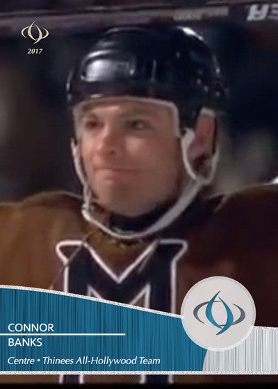 Connor Banks from Mystery, Alaska on the Thinees All-Hollywood Hockey team