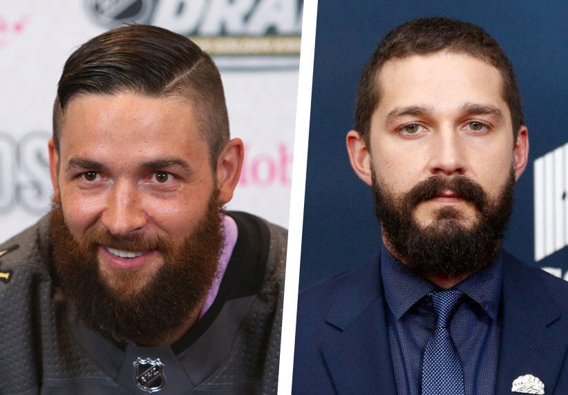 Deryk Engelland and Shia LaBeouf