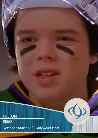 Fulton Reed of Disney's The Mighty Ducks is a defenceman on the All-Hollywood Hockey team