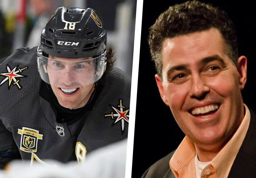 James Neal and Adam Carolla