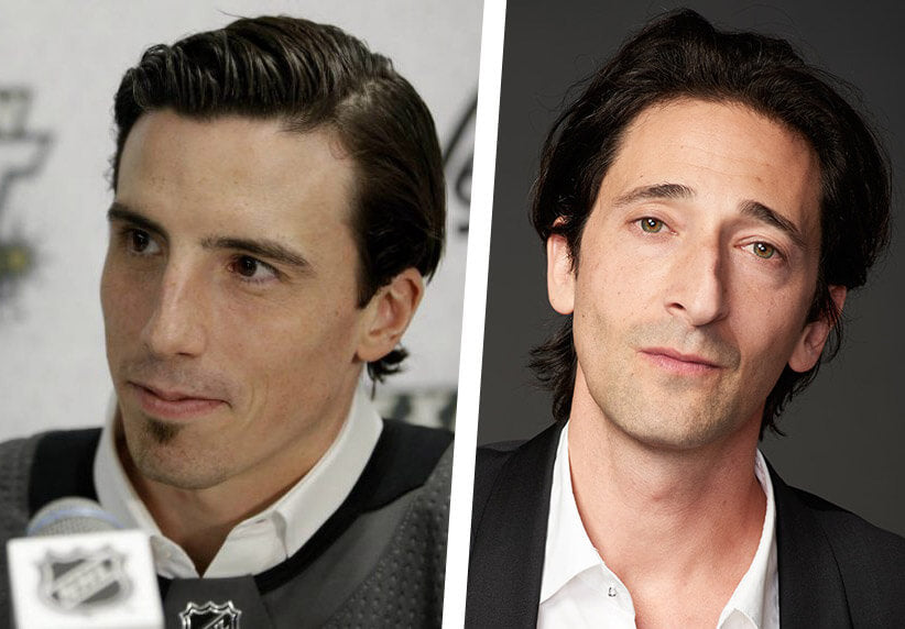 Marc-Andre Fleury and Adrien Brody