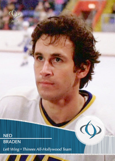 Ned Braden of the cult classic hockey movie Slap Shot is on the Thinees All-Hollywood Hockey team
