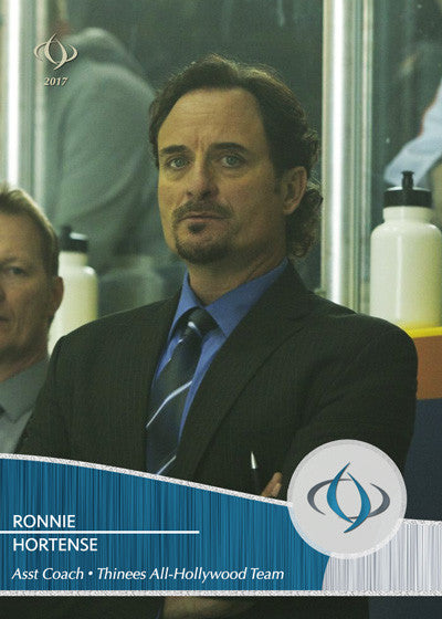 Coach Ronnie Hortense played by Kim Coates in the movie Goon (2011) is the assistant coach on the Thinees All-Hollywood Hockey team