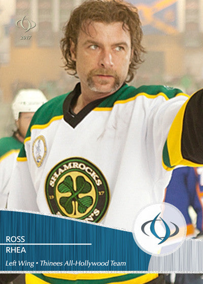 Ross 'the Boss' Rhea is on the fourth line of the Thinees Hockey team