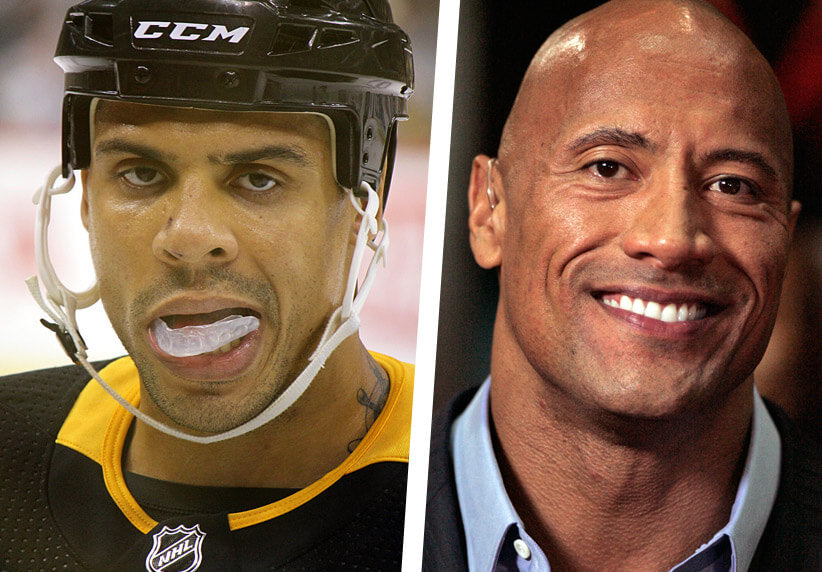 Ryan Reaves and Dwayne Johnson