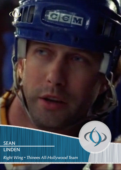 Sean Linden of Slap Shot 2: Breaking the Ice (2002) and played by Stephen Baldwin is on our All-Hollywood Hockey team
