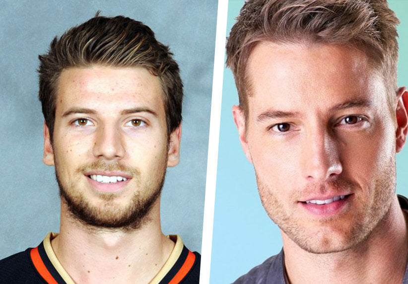 Shea Theodore and Justin Hartley