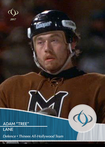 Tree Lane of Mystery, Alaska is on the Thinees All-Hollywood Hockey team