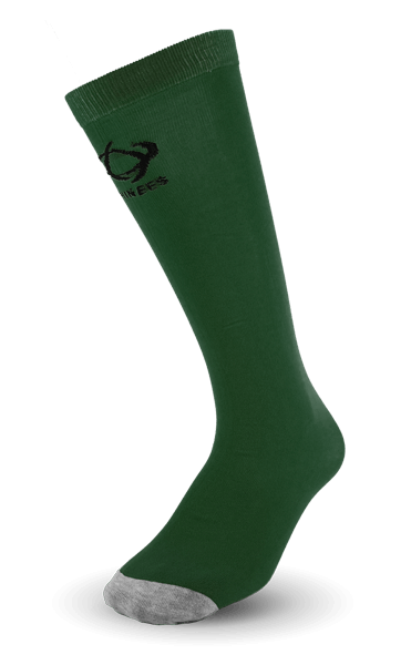 Thinees Forest Green ultra thin Skating Socks with grey toe