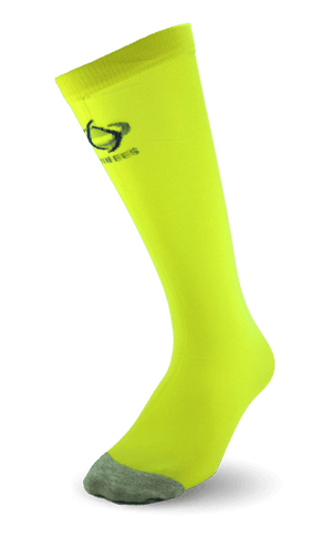 Thinees Neon Yellow Thin Hockey Socks