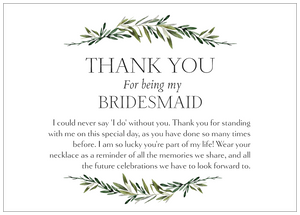 Bridesmaid Thank You Necklace