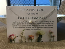 Bridesmid Thank You Necklace - Floral