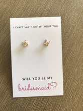 Will you be my bridesmaid earring card