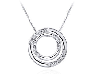 Circle Diamonte Necklace