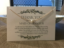 Maid Of Honour Thank You Necklace